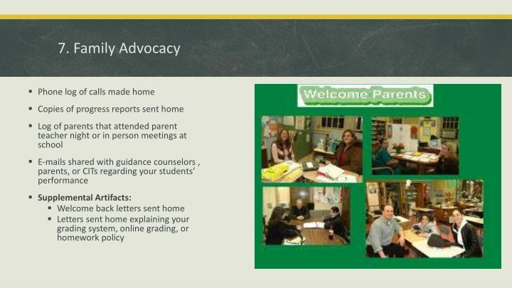 7. Family Advocacy