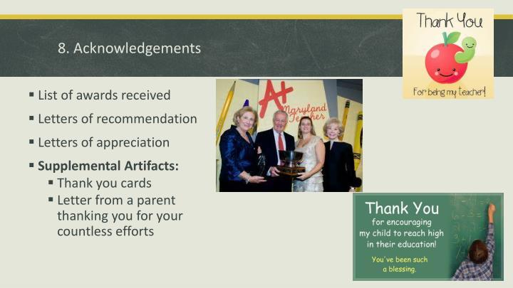 8. Acknowledgements
