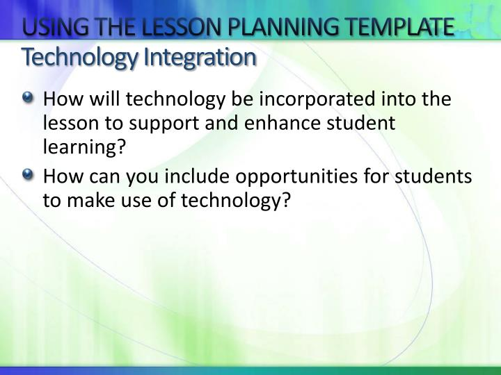 Technology Integration Lesson Plan Template Images Samr - Technology integration lesson plan template