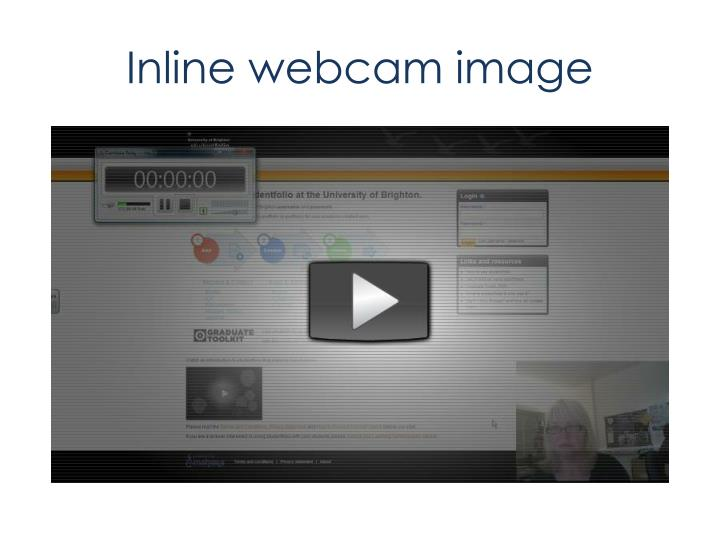 Inline webcam image