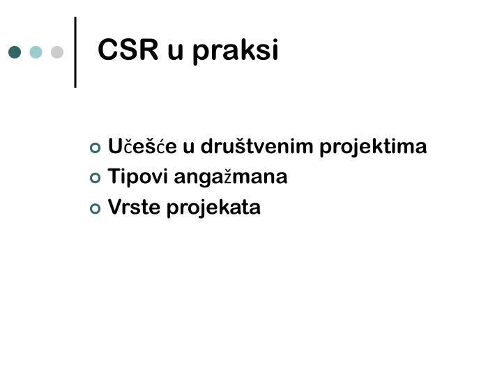 CSR u praksi