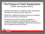 the purpose of hard assessments casas workkeys pesco