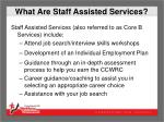 what are staff assisted services