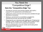 you need the competitive edge