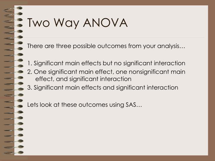 Two Way ANOVA