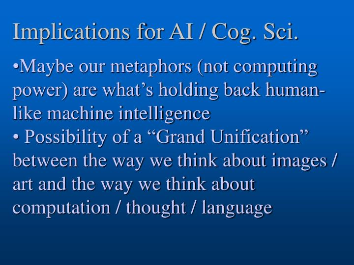Implications for AI / Cog. Sci.
