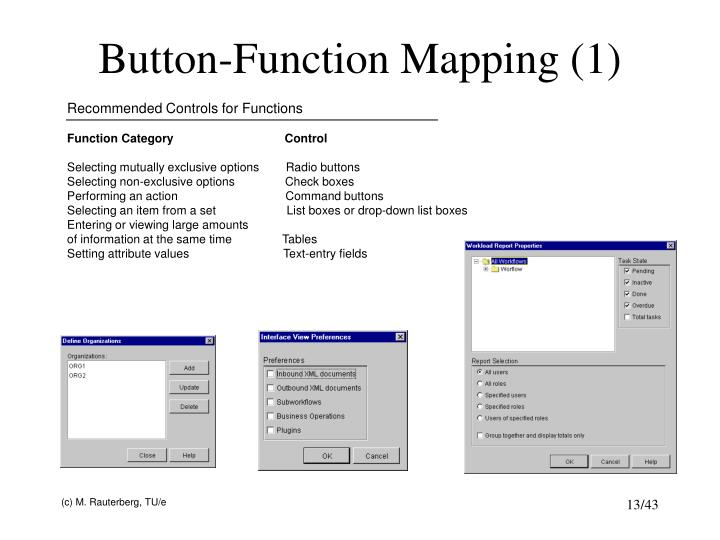 Button-Function Mapping (1)