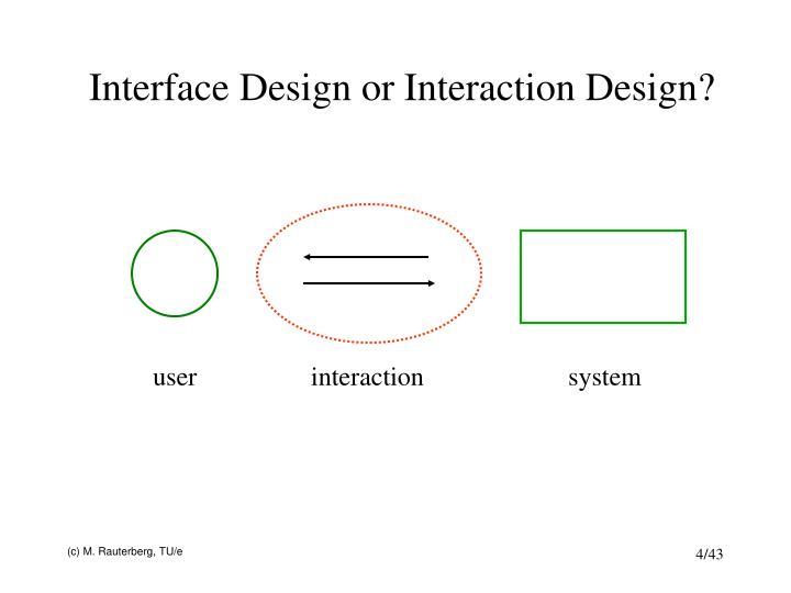 Interface Design or Interaction Design?