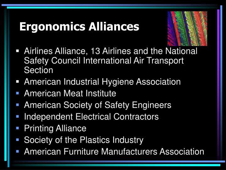 Ergonomics Alliances