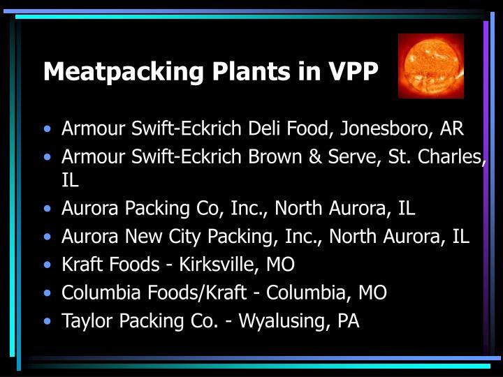 Meatpacking Plants in VPP