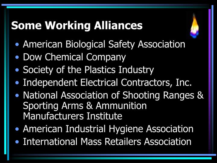 Some Working Alliances