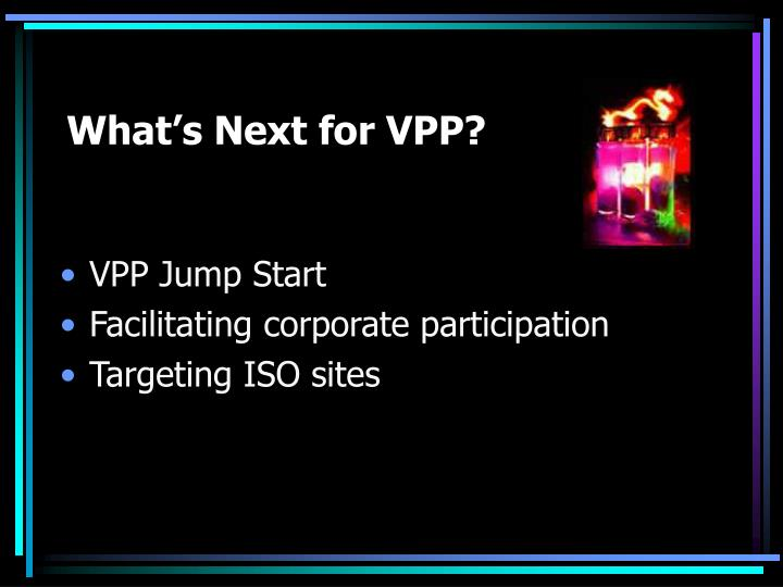 What's Next for VPP?