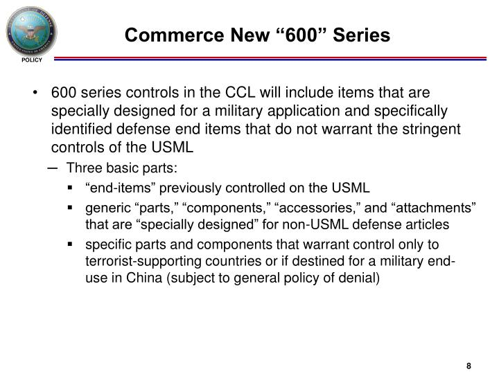 "Commerce New ""600"" Series"
