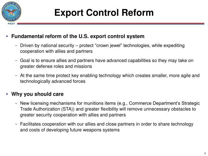 Export Control Reform
