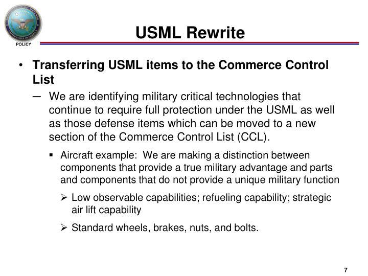 USML Rewrite