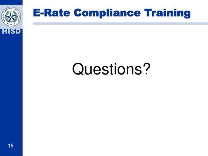 E-Rate Compliance Training