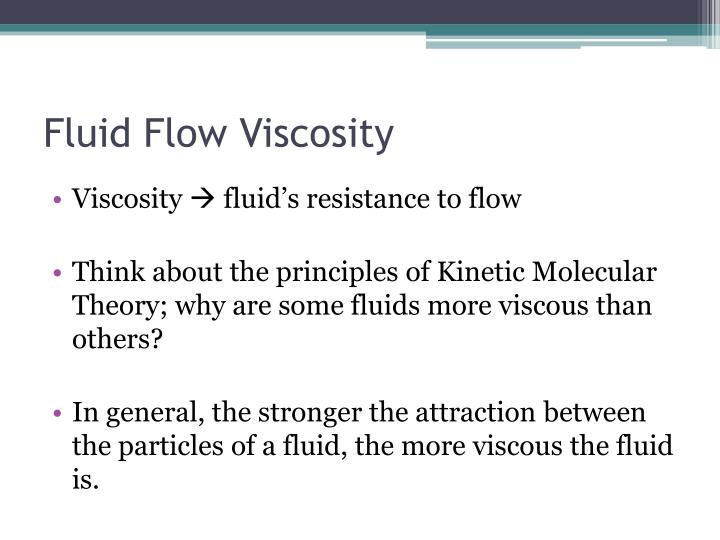 Fluid Flow Viscosity