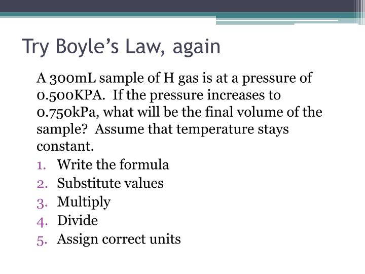 Try Boyle's Law, again