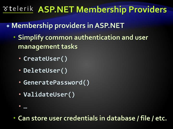ASP.NET Membership Providers