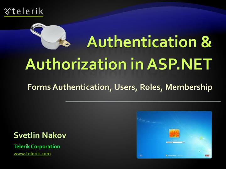Authentication authorization in asp net