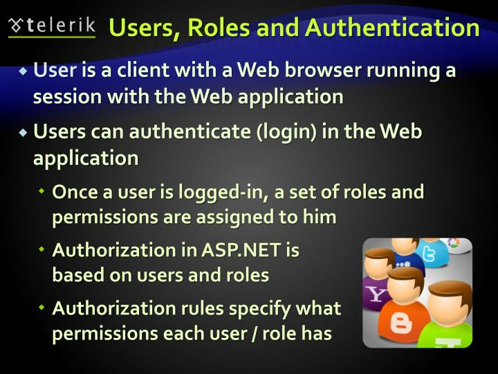 Users, Roles and Authentication