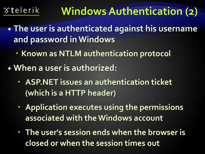 Windows Authentication (2)