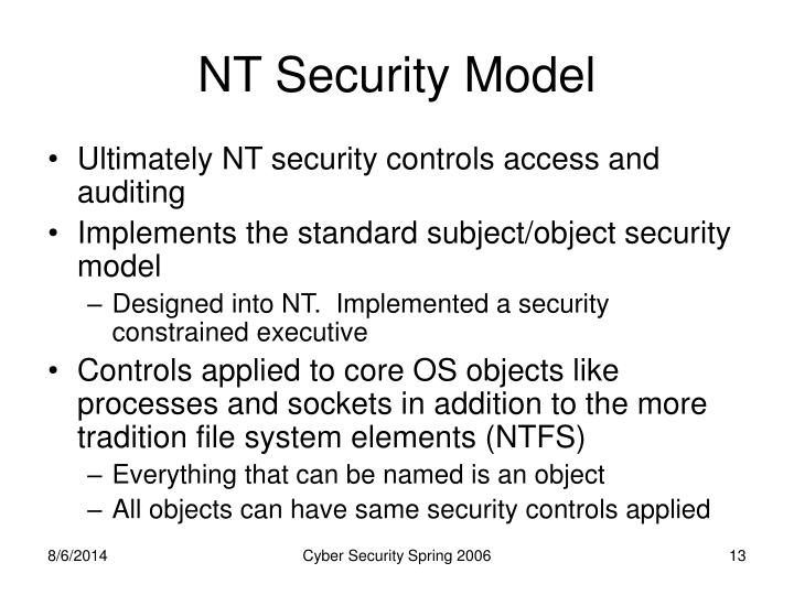 NT Security Model
