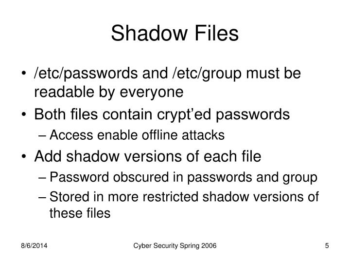 Shadow Files