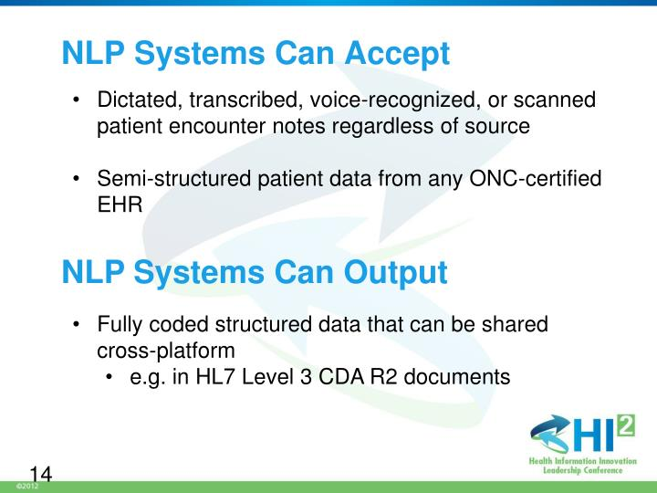 NLP Systems Can Accept