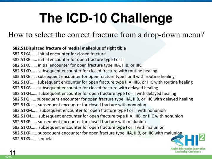 The ICD-10 Challenge