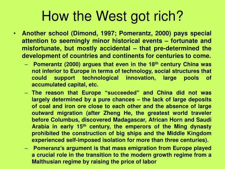 How the West got rich?