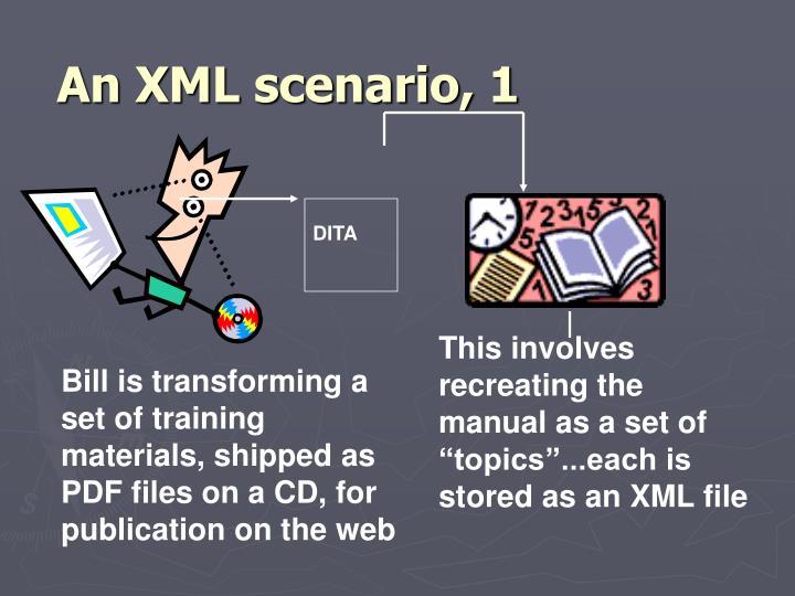 An XML scenario, 1