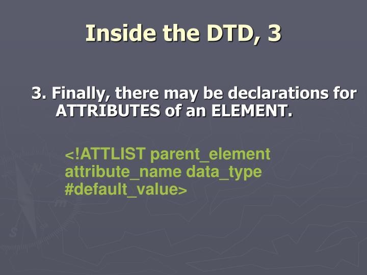 Inside the DTD, 3