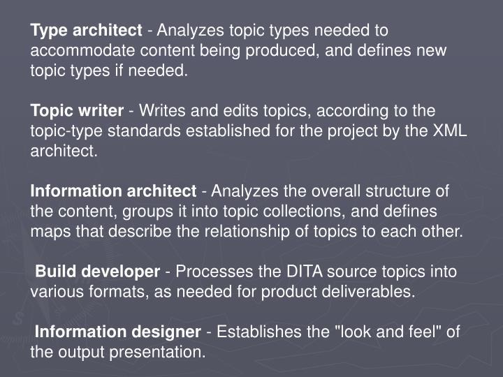Type architect