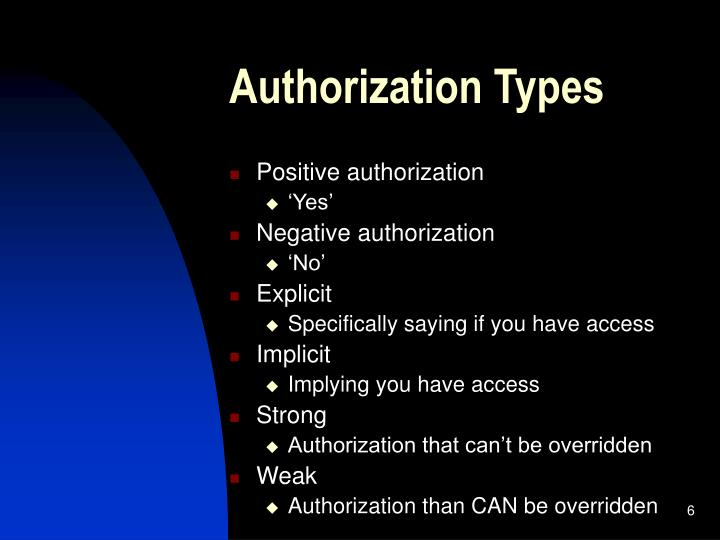 Authorization Types