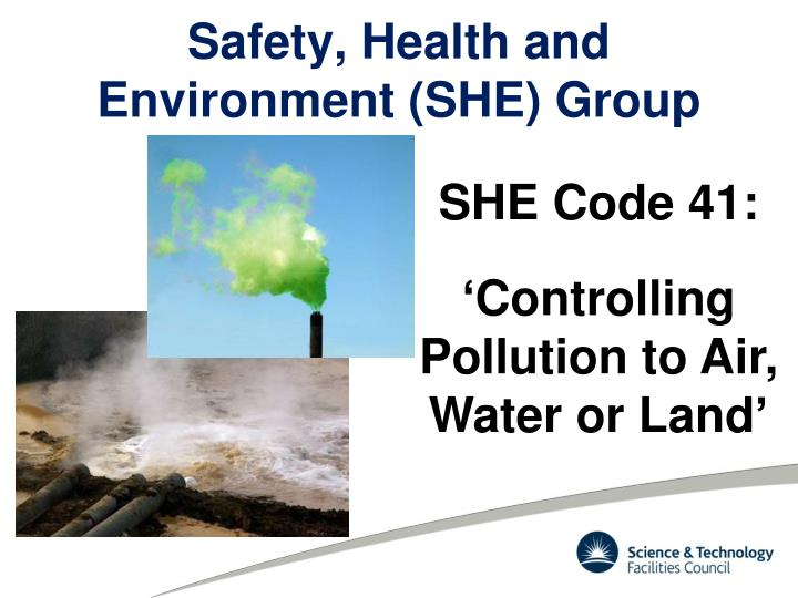 Safety health and environment she group