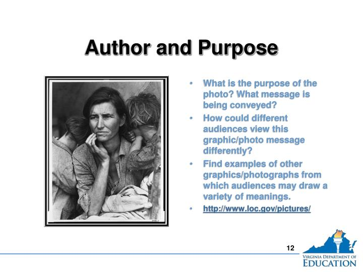 Author and Purpose