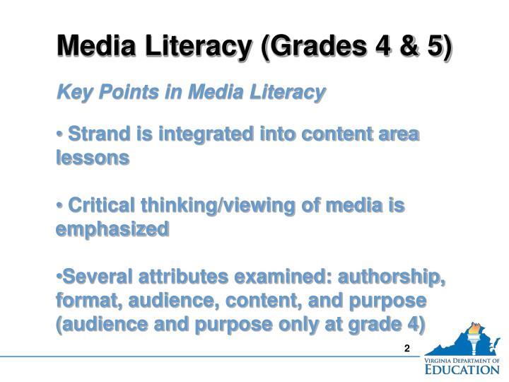 Media Literacy (Grades 4 & 5)
