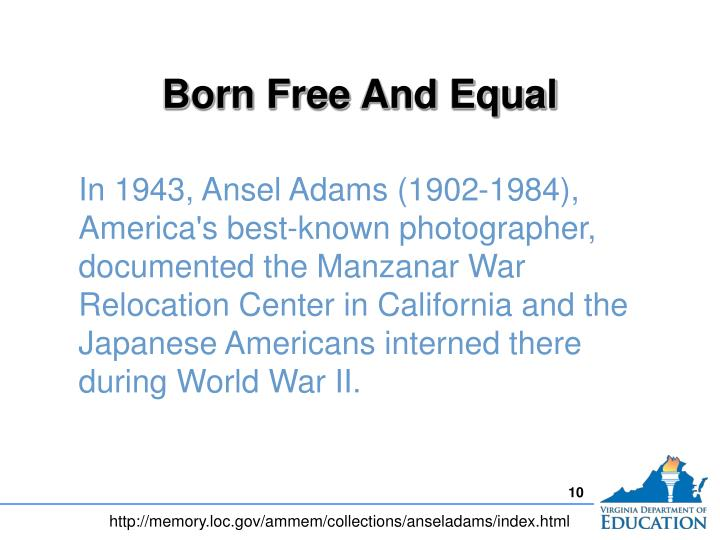Born Free And Equal