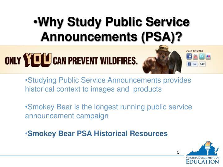 Why Study Public