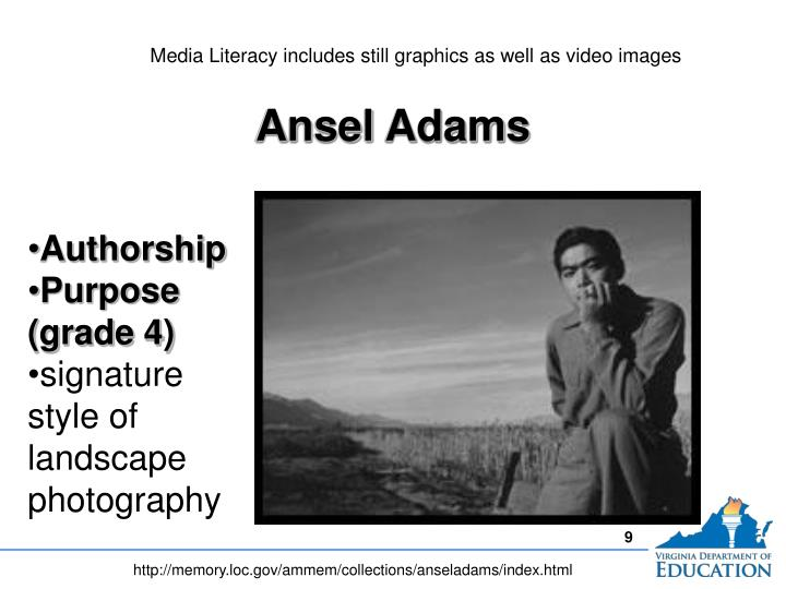 Media Literacy includes still graphics as well as video images