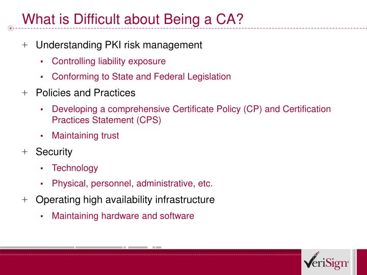 What is Difficult about Being a CA?