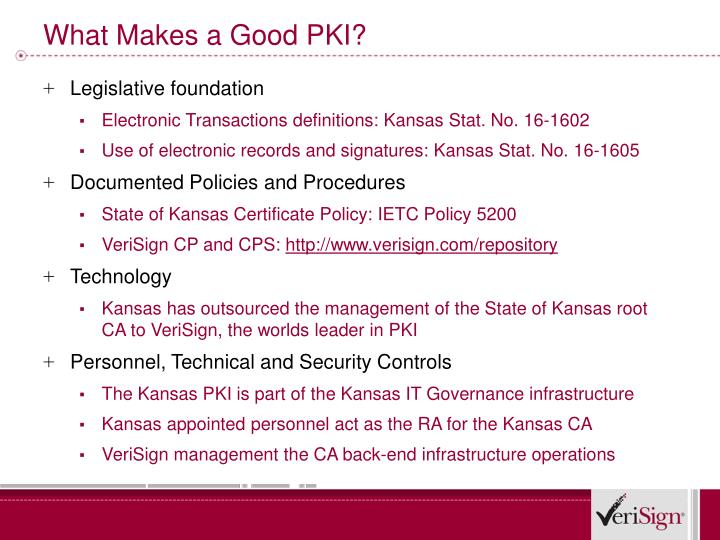 What Makes a Good PKI?