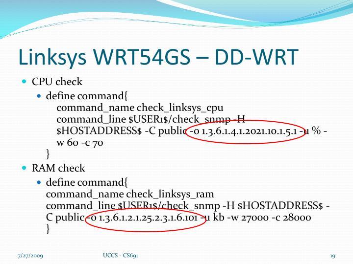 Linksys WRT54GS – DD-WRT