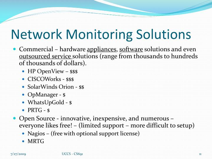 Network Monitoring Solutions