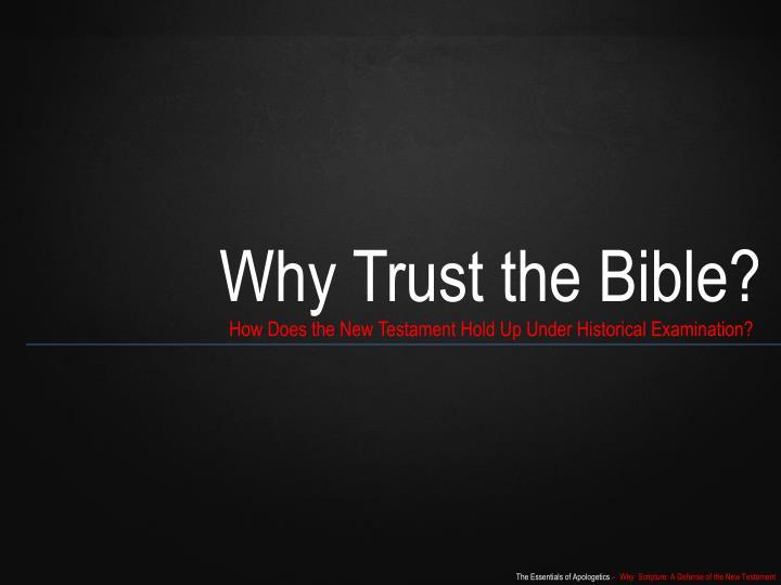 Why Trust th
