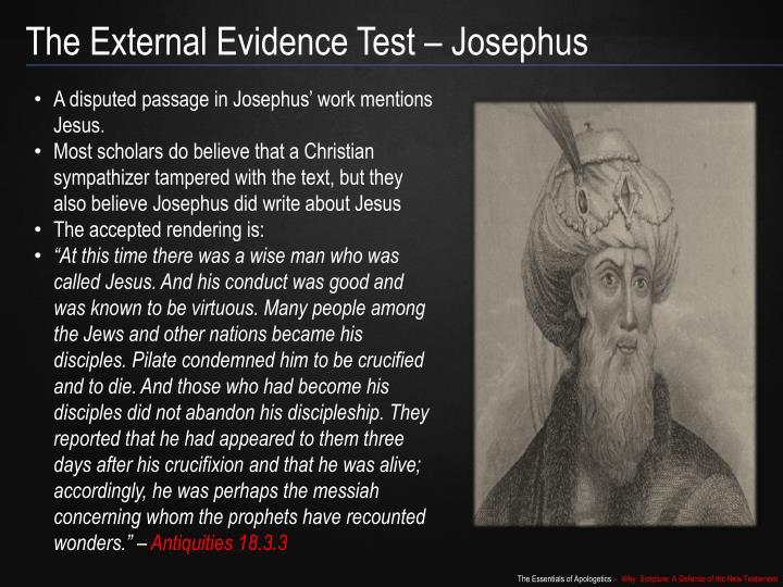 The External Evidence Test – Josephus
