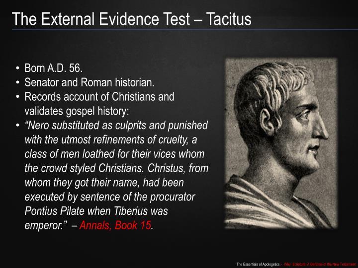 The External Evidence Test – Tacitus