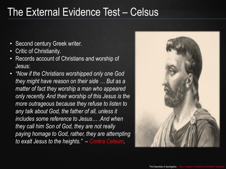 The External Evidence Test –
