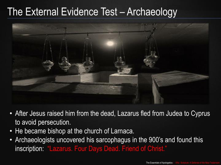 The External Evidence Test – Archaeology